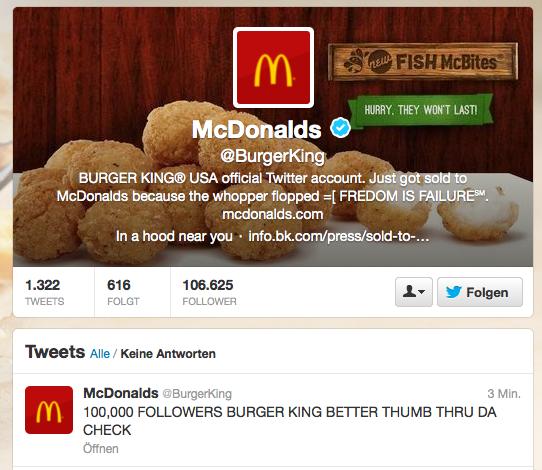 Burger King Twitter Hack